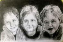 A 4, Kinder, Bleistiftzeichnung, Zeichnungen