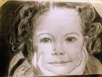 Mädchen, Bleistiftzeichnung, Hoffnung, Zeichnungen