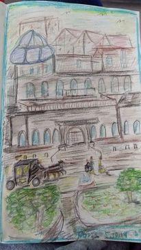 Paris, Spiel des lebens, Zeichnungen,