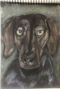 Yanka, Pastellmalerei, 30 x40, Malerei