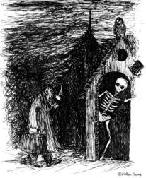 Illustration, Robert walser, Federzeichnung, Zeichnungen