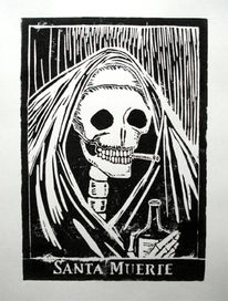 Tag der toten, Tod, Druckgrafik, Santa