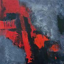 Acrylmalerei, Komposition, Abstrakt, Malerei