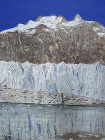 Eis, Acrylmalerei, Gletscher, Malerei