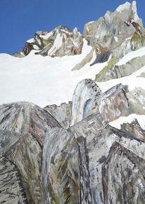 Alaska, Gletscher, Acrylmalerei, Malerei