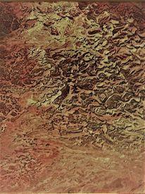 Abstrakt, Acrylmalerei, Planetenoberfläche, Malerei