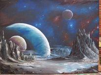 Planet, Malerei, Universum, Energie
