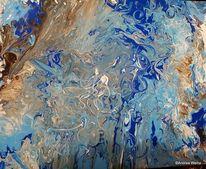 Landschaft malerei, Welle, Acrylmalerei, Blau
