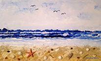 Meer, Acrylmalerei, Welle, Malerei
