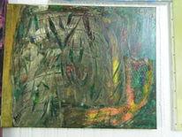 Acrylmalerei, Natur, Wasser, Wald