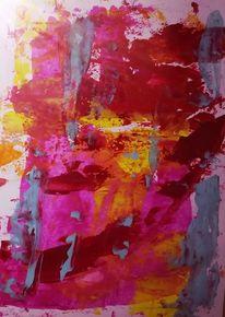 Acrylfarben, Rot, Action painting, Malerei