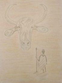 Buntstiftzeichnung, Bleistiftzeichnung, Zeichnungen
