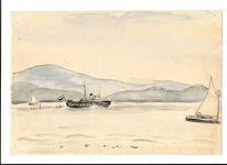 Aquarellmalerei, Ca 1932, Martha krug, Aquarell