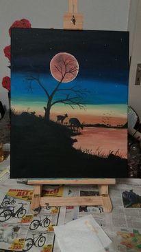 Malerei, 2019, Design, Acrylmalerei