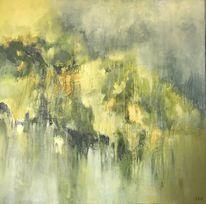 Acrylmalerei, Abstrakt, Malerei, Grün