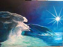 Landschaft, Acrylmalerei, Eisberg, Malerei