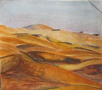 Oman, Wüste, Gouachemalerei, Aquarell