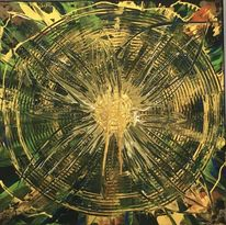 Gold abstrakt, Abstrakte malerei, Abstrakte blume, Abstrakte pflanze