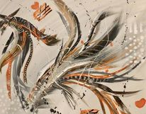 Pinsel, Malerei, Malerei abstrakt, Schwarzweiß