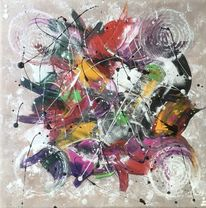 Acrylmalerei, Spachteltechnik, Abstrakt, Malerei abstrakt