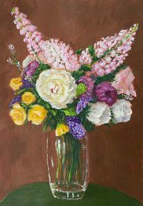 Blumenstrauß, Acrylmalerei, Malerei