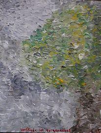 Baum, Grau, Herbst, Acrylmalerei