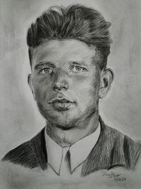 Portrait, Großvater, Zeichnungen, Zeichnung
