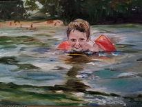 Freude, Schwimmen, Sommer, See