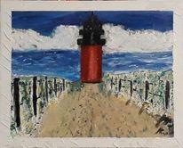 Malerei, Landschaft, Acrylmalerei, Landschaft malerei