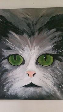 Katze, Malerei,