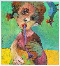 Musik, Ölmalerei, Liebe, Öl auf karton