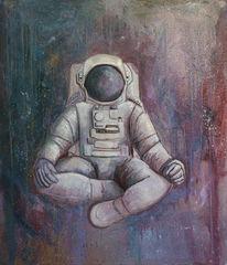 Lila farben, Fiktion, Neue welten, Astronaut