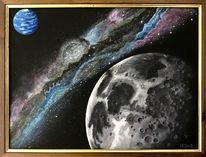 Milchstraße, Nebel, Neptun, Mond