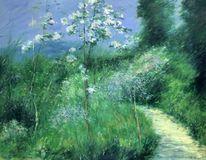 Garten, Landschaft malerei, Magnolien, Malerei