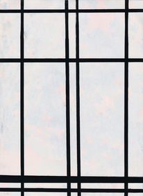 Malerei abstrakt, Mondrian, Grafit, Bunt