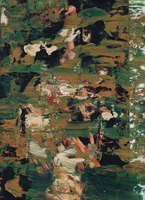 Mondrian, Zeitgenössisch, Zeichnung, Ölmalerei