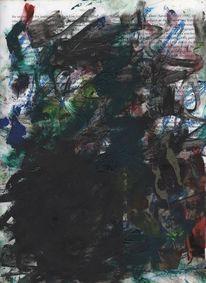 Ölmalerei, Design, Rot, Zeitgenössisch