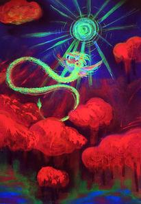 Quetzalcoatl, Farben, Psychedelisch, Kukulkan