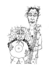 Illustration, Lustig, Portrait, Freaks