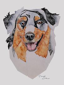 Malen, Geschenkidee, Hundeportrait, Tierportrait