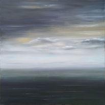 Acrylmalerei, Blick, Landschaft malerei, Meeresstimmung bei nebel