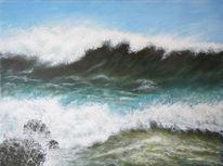 Meer, Acrylmalerei, Sturm, Malerei