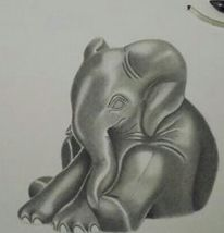 Elefant, Tiere, Zeichnung, Zeichnungen