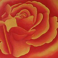 Menschen, Blumen, Abstrakt, Malerei