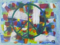 Abstrakte malerei, Sozial, Menschen, Fantasie