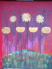 Abstrakte malerei, Herbst, Blumen, Landschaft