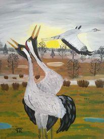 Abstrakte malerei, Tiere, Malerei,