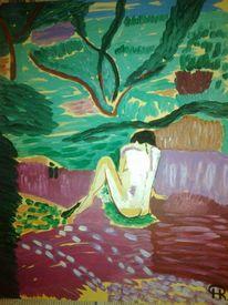 Menschen, Landschaft, Wald, Abstrakte malerei