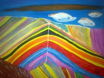 Berge, Fantasie, Landschaft, Malerei