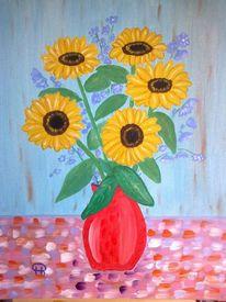 Stillleben, Abstrakte malerei, Malerei, Sonnenblumen